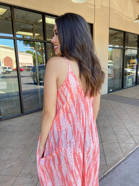 Water Tie Dye Cocoon Maxi Dress