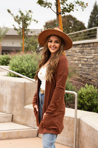 Slouch Long Sleeve Knit Cardigan