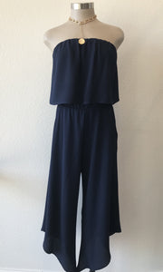 Strapless Solid Jumpsuit