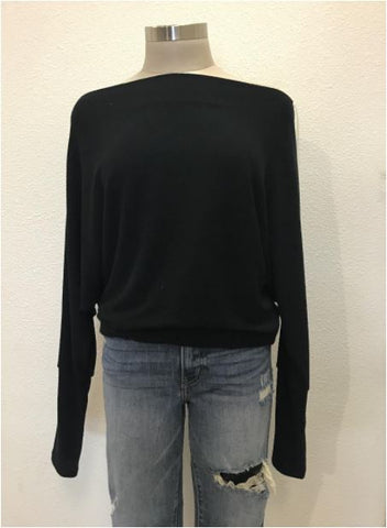 Crepe Hacci Top- Black