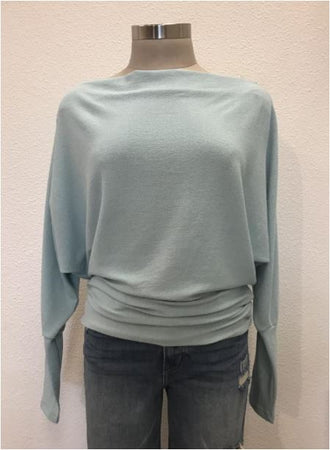 Crepe Hacci Top- Mint