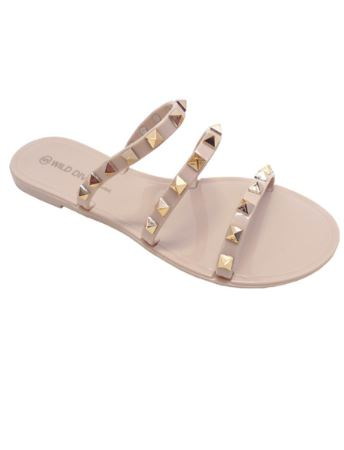 Strapy Studded Jelly Sandals