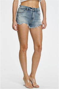 Lulu High Rise Cut Off Shorts