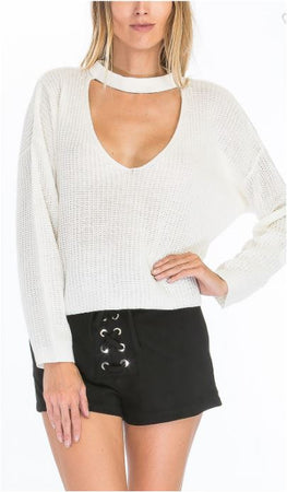 Ivory Choker Sweater