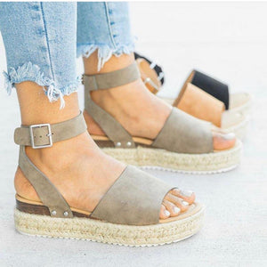 Wedge Ankle Sandal