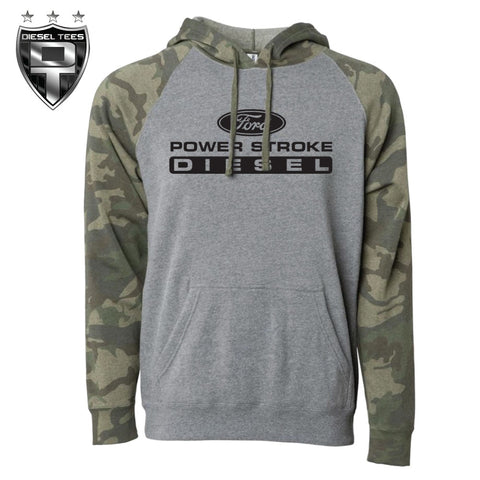 Ford Power Stroke Diesel Hoody Camo Sleeves