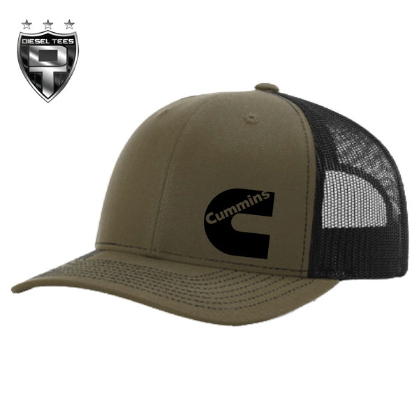 Cummins 112 SnapBack Trucker Hat Olive/Black *Limited Run