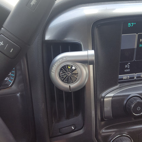 Spinning Turbo Air Freshener Silver