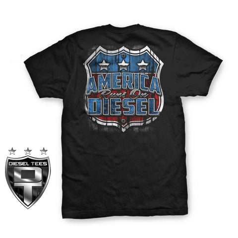 """America Runs On Diesel"" T Shirt"