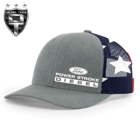 Ford Power Stroke Diesel Flag Trucker Hat
