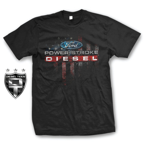 Ford Power Stroke Flag T Shirt