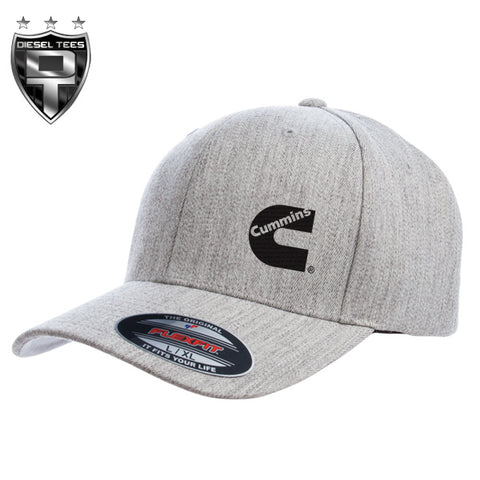 Cummins Diesel Heather Grey FlexFit Hat