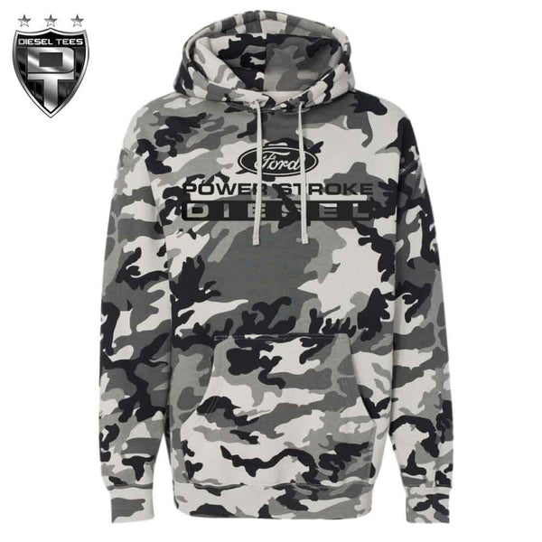 Ford Power Stroke Snow Camo Hoody