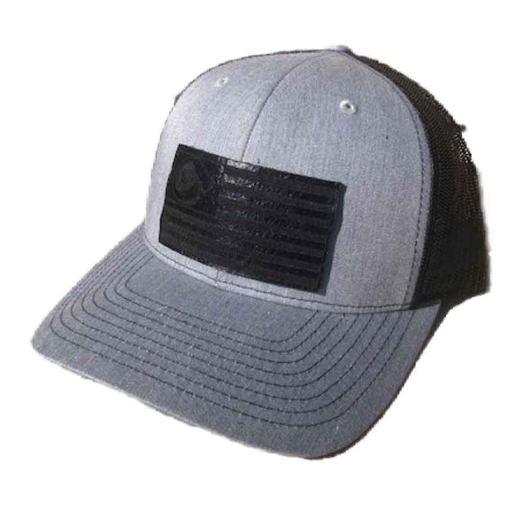 Turbo Flag Leather Patch SnapBack 11 Heather Grey