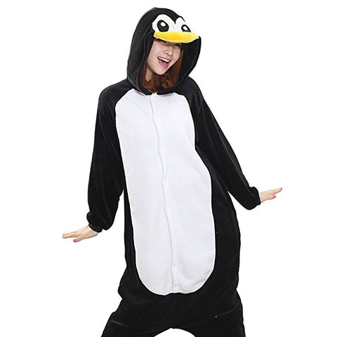 Afoxsos Women's Adult Pajamas Cosplay Onesie Sleepwear Penguin