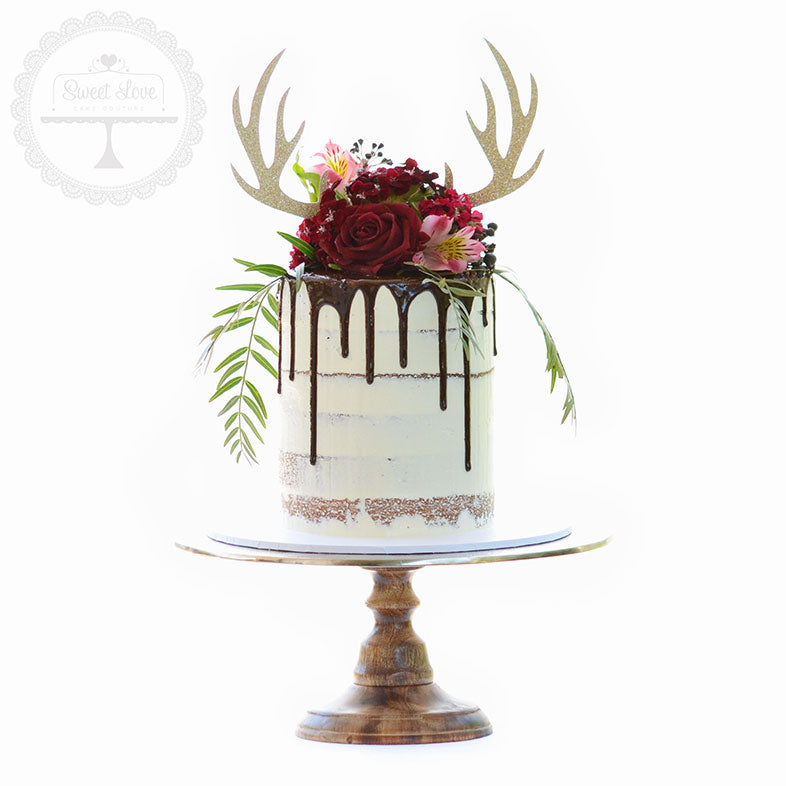 Cake Topper - Deer Antlers – Sweet Love Cake Couture