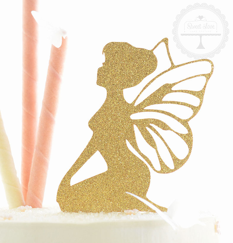 Cake Topper - Sitting Fairy