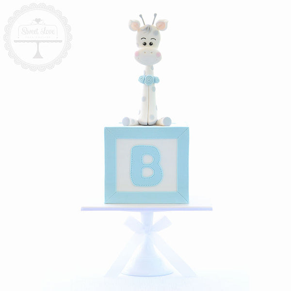 Baby Giraffe Cake Topper - Instant Download