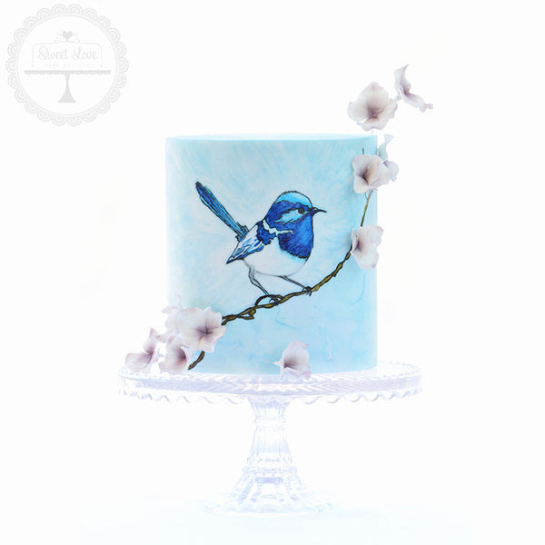 Watercolour Blue Wren - Instant Download