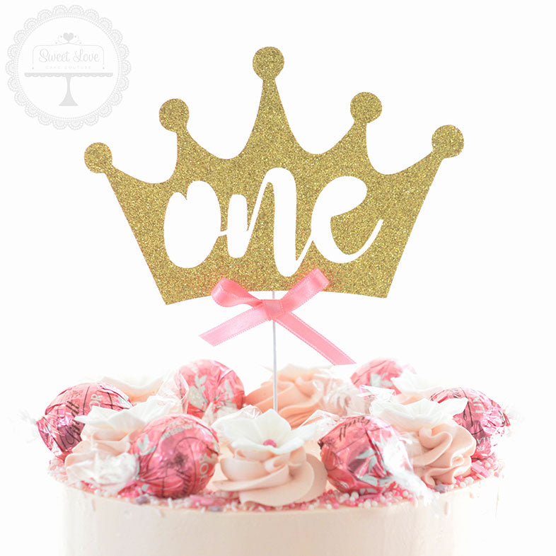 Cake Topper - One Crown