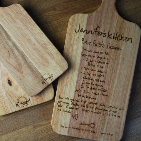 Recipe Cutting Board