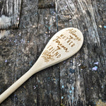 Always My Mother, Forever My Friend Wood Cooking Spoon