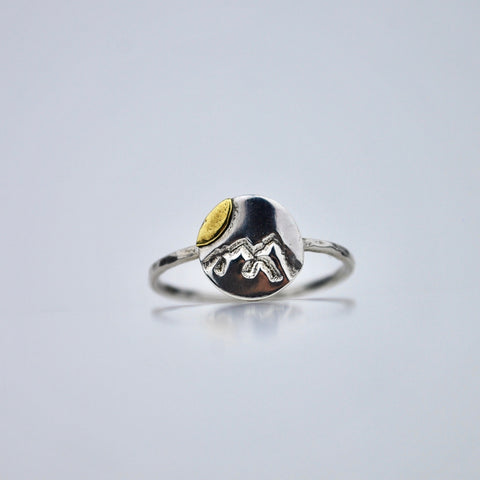 Take a Hike - Mountain Ring - Choose Your Size