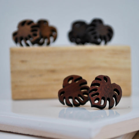 Mini Monstera Wood Studs