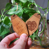 Plants Over People Hotel Keychain