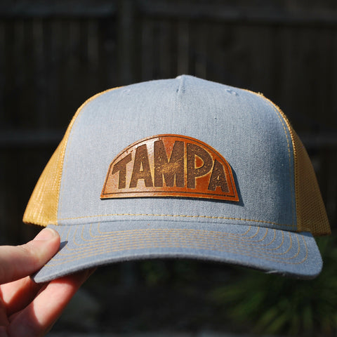 The Basic Gold - Leather Patch Hat - Choose Your Patch