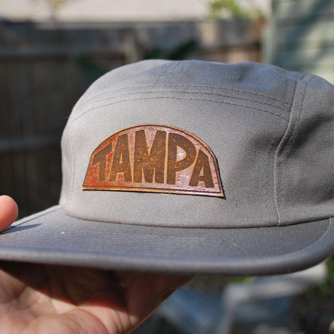 Classic Grey - Leather Patch Hat - Choose Your Patch