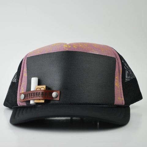Pink and Gold Chalk Board Hat