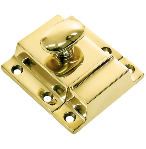 Unlacquered Brass Cabinet Latch
