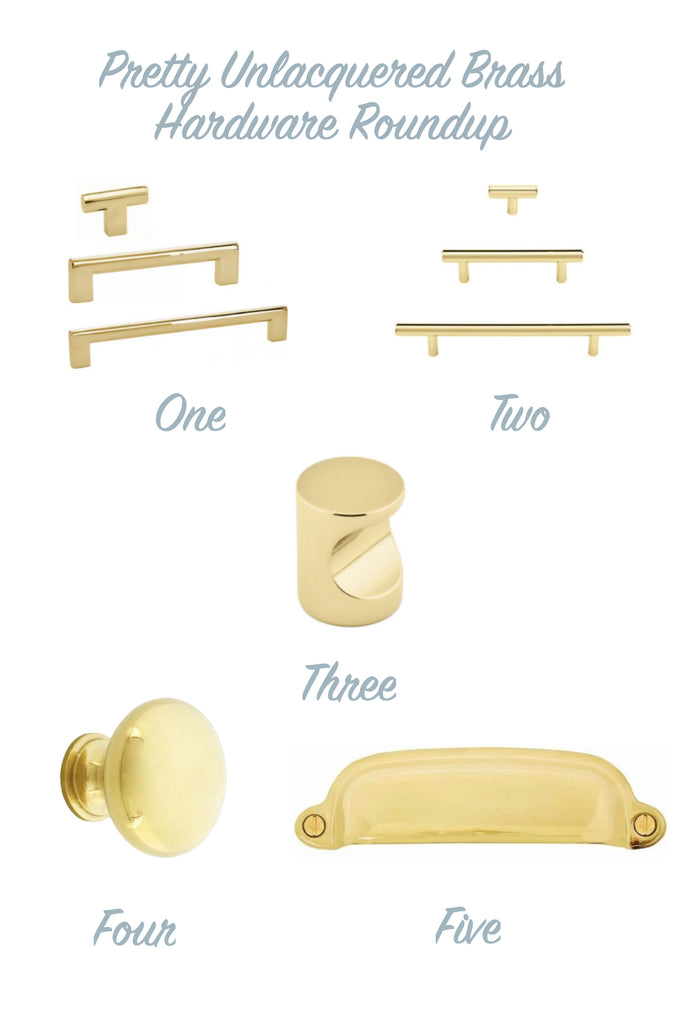 Forge Hardware Unlacquered Brass Roundup