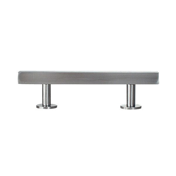 "Lew's Hardware Nickel 11-102 Bar Series Handle, 3"" Centers, 5"" Length - Brass Cabinet Hardware"