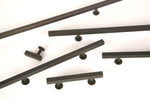 Oil Rubbed Bronze Lew's Hardware Bar Series - Brass Cabinet Hardware