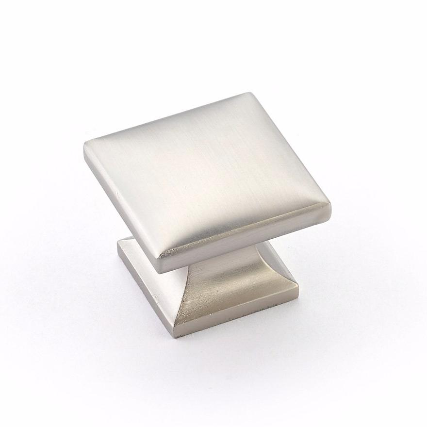 Milli Square Satin Nickel Cabinet Knob - Brass Cabinet Hardware