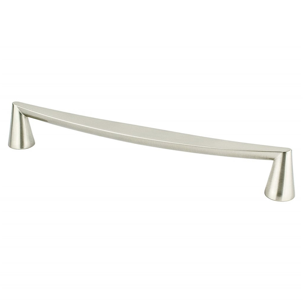 "Satin Nickel ""Core"" Drawer Pulls and Knob - Brass Cabinet Hardware"
