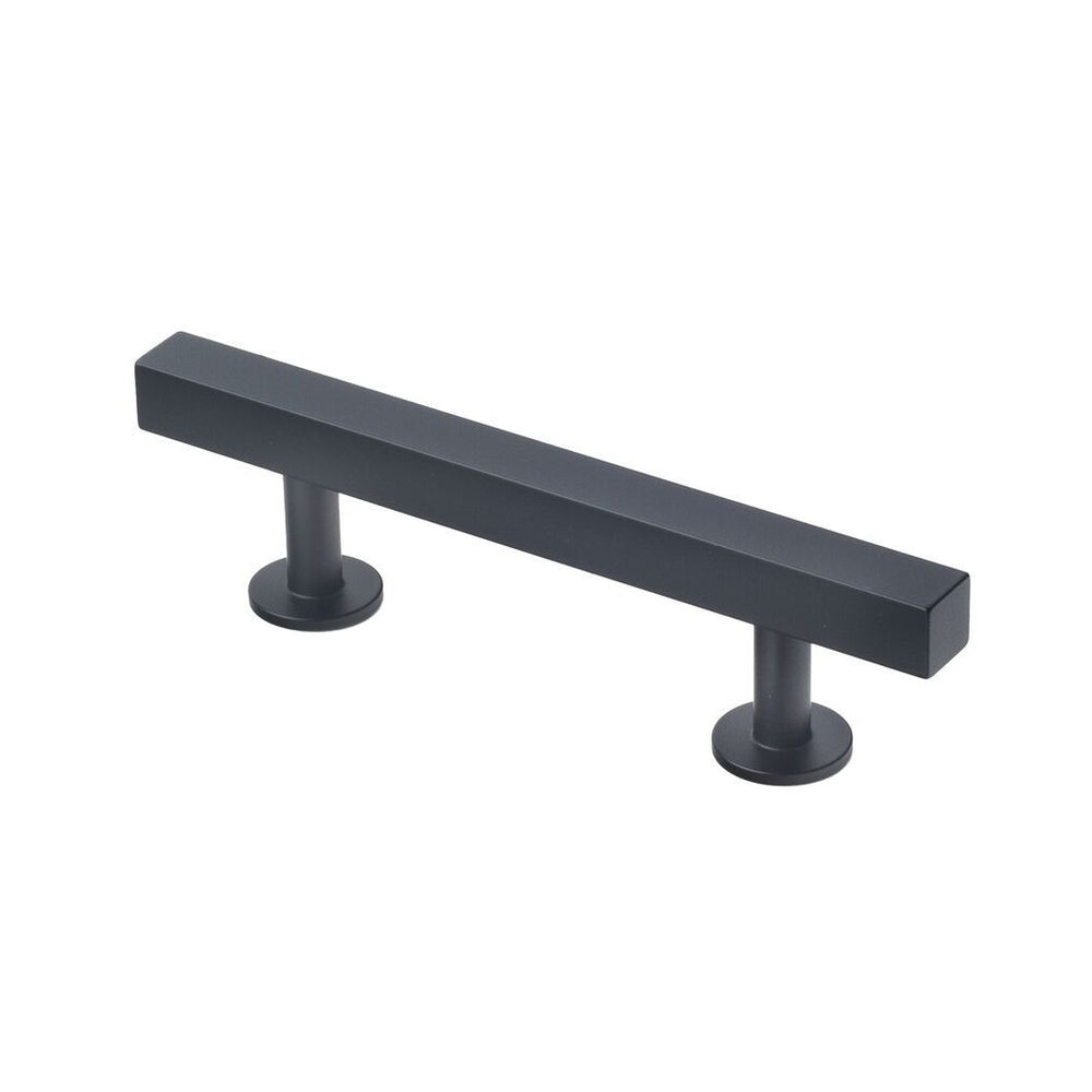 "Lew's Hardware Matte Black Bar Series 51-102 Bar Pull 3"" Centers, 5"" Length - Brass Cabinet Hardware"