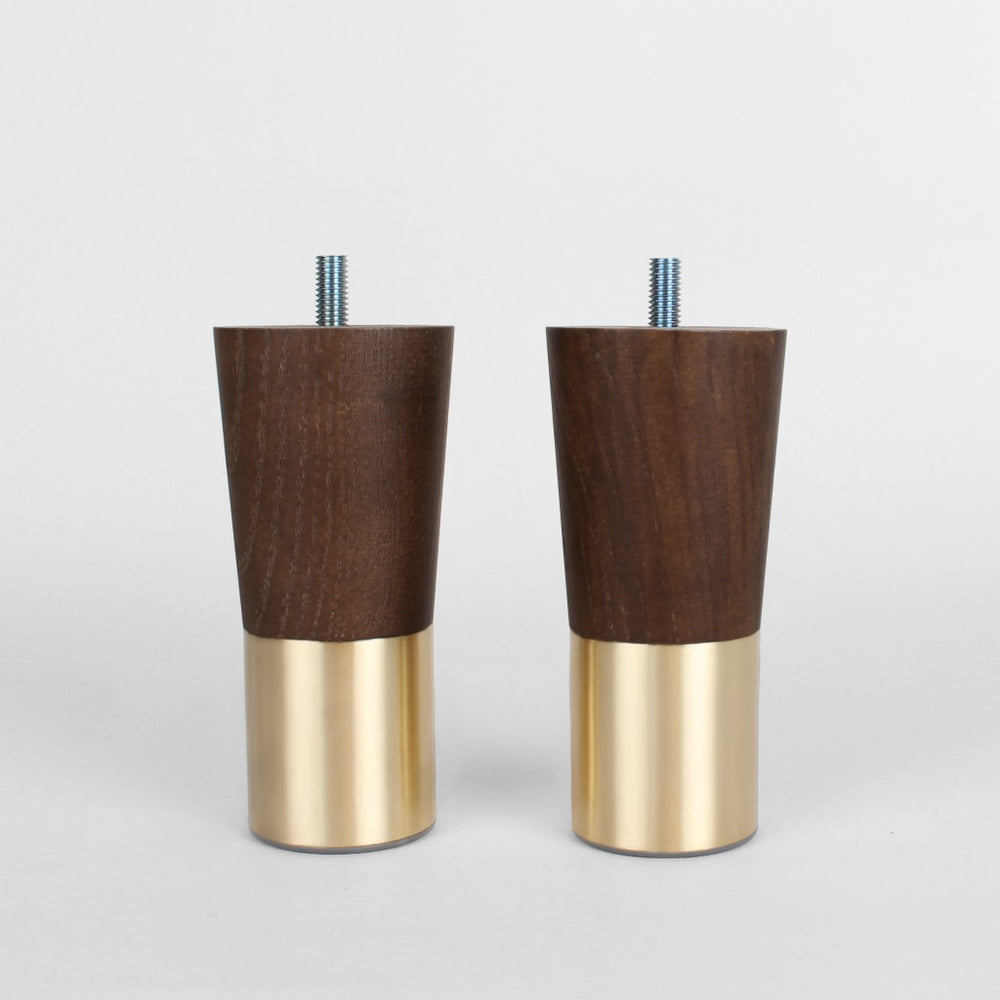 Set of 2-Mid-century Modern Furniture Legs Replacement Legs Walnut