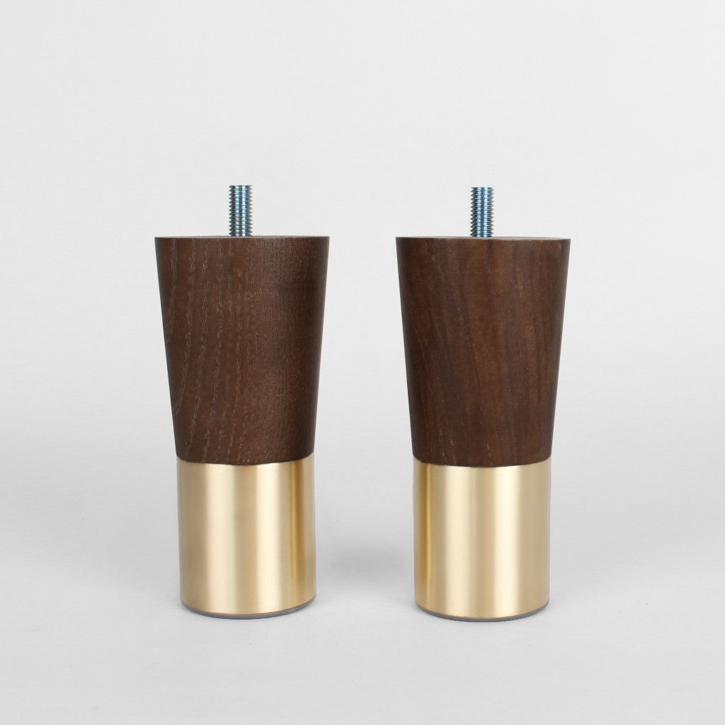 Picture of: Set Of 2 Mid Century Modern Furniture Legs Replacement Legs Walnut Forge Hardware Studio