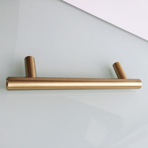"European Round Brass - 4"" Drawer Pull - Cabinet Handle - Brass Cabinet Hardware"