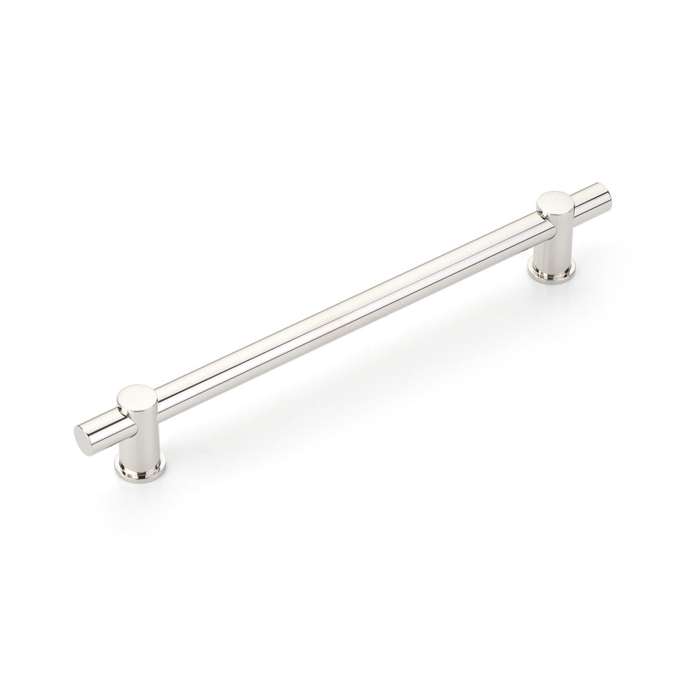 "Polished Nickel ""Fonce"" Round T-Bar Appliance Handle - Brass Cabinet Hardware"