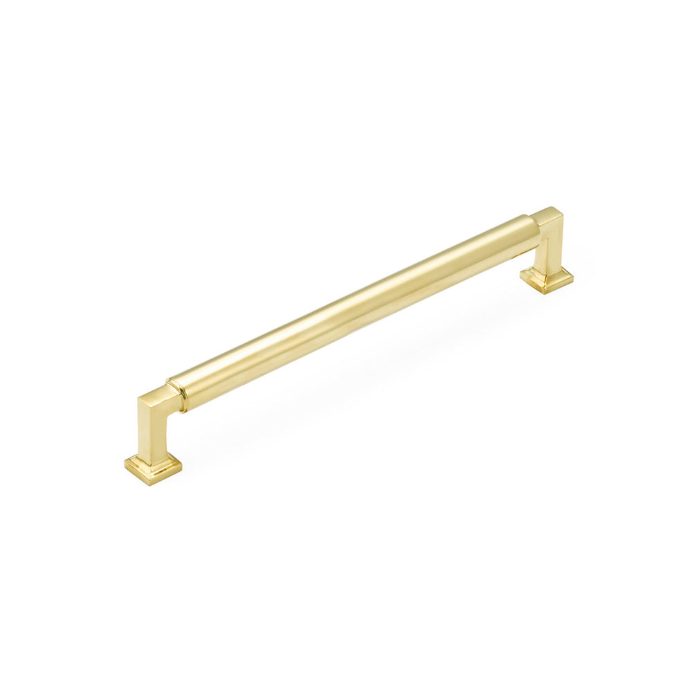 "Unlacquered Brass ""Neal"" Cabinet Knobs and Pulls Cabinet Hardware - Brass Cabinet Hardware"