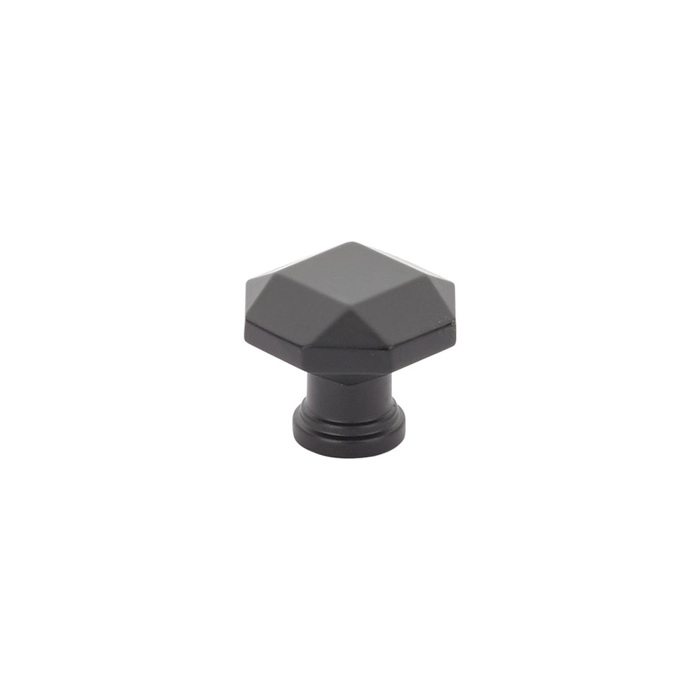 Menlo Park Black Cabinet Faceted Drawer Knob - Kitchen Knob - Brass Cabinet Hardware