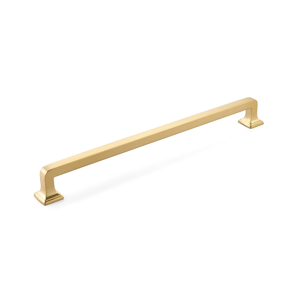 "Menlo Park 15"" Appliance Pull - Fridge Pull in Satin Brass"