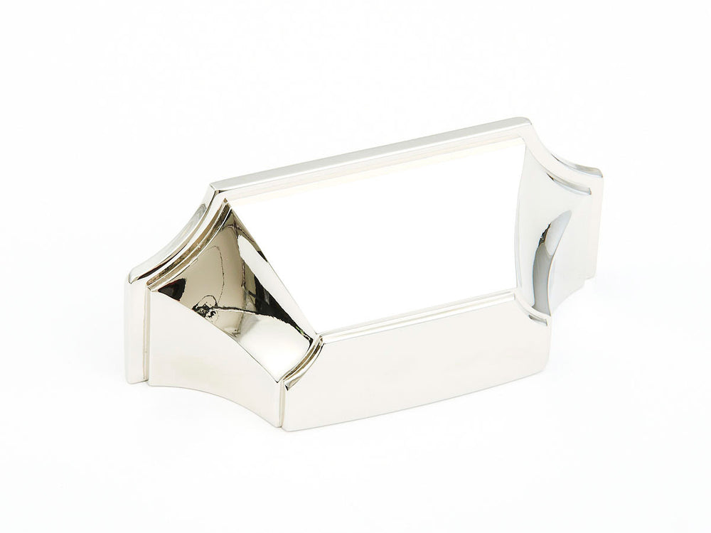 Regal Transitional Cup Polished Nickel Drawer Pull
