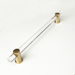 "Lucite and Satin Brass ""Luz"" 12 in. Appliance Handle"
