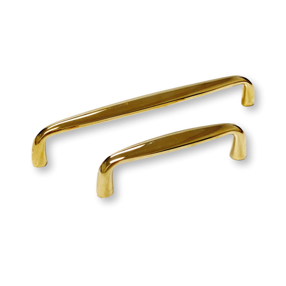 Omni Drawer Pulls in Polished Unlacquered Brass - Kitchen Cabinet Hardware