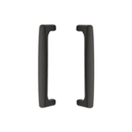 Back to Back Door Pull in Flat Black - Front & Back Hardware for Interior Doors